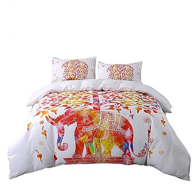 Bettbezug-Sets Neuheit Polyester / Baumwolle Reaktivdruck 3 Stück / 200 / 3-teilig (1 Bettbezug, 2 Kissenbezüge)