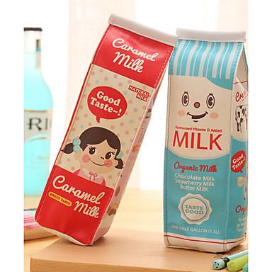 saco de caneta design têxtil caixa de leite