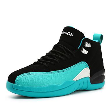 Homens sapatos Couro Ecológico Primavera / Outono Conforto Tênis Basquete Vermelho / Azul