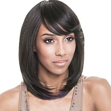 AISI HAIR Naisten Synteettiset peruukit Suora Musta Luonnollinen peruukki Rooliasu peruukki