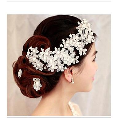 krystall blomster headpiece bryllupsfesten elegant klassisk feminin stil