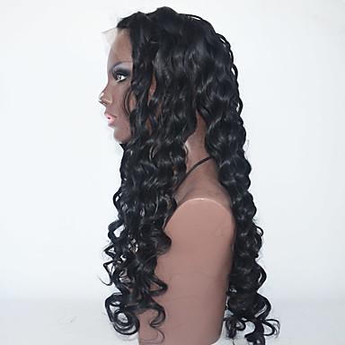 Synteettiset pitsireunan peruukit Kinky Curly Luonnollinen hiusviiva Naisten Lace Front Carnival Peruukki Halloween Peruukki Luonnollinen
