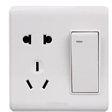 鄭新壁スイッチは5ホールのデュアルコントロールと一緒にインストールされます