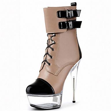 Bottes Talon Chaussures Hiver Bout de Aiguille à Similicuir 05336586 club la Femme Mode Lumineuses Chaussures Automne rond Bottes Chaussures 8Hf6xnIq