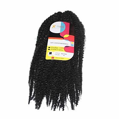 100% Vero Capelli Intrecciati Uncinetto Trecce Crochet Pre-ciclo 100% Capelli Kanekalon 1 Capelli Trecce #05285114
