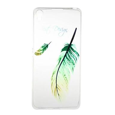 ソニーxperiaのxaのxperia e5の羽のパターンの高透過性のtpuの材料の電話ケース