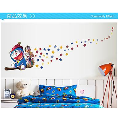 Cartoon / Mode / Feest Wall Stickers Vliegtuig Muurstickers / Lichtgevende Muurstickers Decoratieve Muurstickers,pvc Materiaal