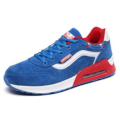 Unissex-Tênis-Conforto-Rasteiro-Preto Azul Rosa Vermelho-Couro Ecológico-Casual