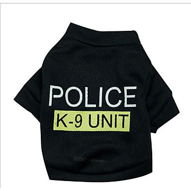 Hund Pullover Hundekleidung Polizei / Militär Baumwolle Kostüm Für Haustiere Herrn Damen Geburtstag Cosplay Modisch