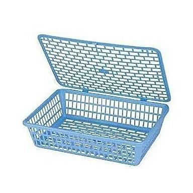 カバー文書バスケット収納ボックス付き924Aファイルプラスチック製の収納ラックバスケットペーパーバスケット