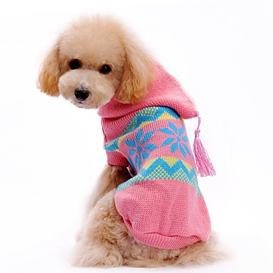 Cat Dog Sweater Hoodie Dog Clothes Color Block Pink Acrylic Fibers Costume For Pets Men's Women's Cute Casual/Daily