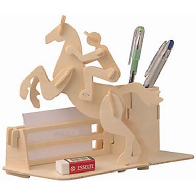 Quebra-Cabeças de Madeira Carruagem Cavalo Nível Profissional De madeira 1pcs Crianças Para Meninos Dom