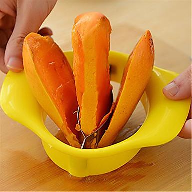 rustfrit stål mango pålægsmaskine frugt splitter fersken cutter kniv Udsnitsværktøjet divider Corer