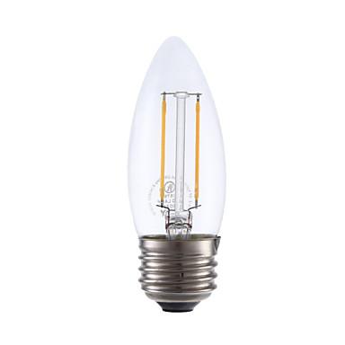 GMY® 1pc 200lm E26 / E27 LED-glødetrådspærer B 2 LED Perler COB Dæmpbar Varm hvid
