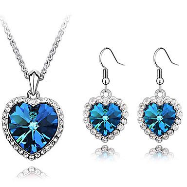 Sieraden Kettingen / Oorbellen Sieraden Set Kristal Modieus Dagelijks 1 Set Dames Blauw Giften van het Huwelijk