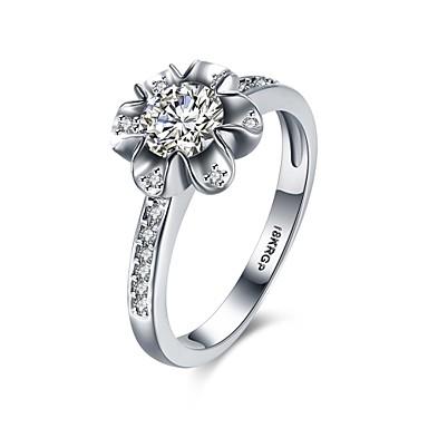 女性 指輪 婚約指輪 ぜいたく 幸福 恋 ジルコン 銅 イミテーションダイヤモンド ジュエリー 結婚式 パーティー 婚約 日常 カジュアル