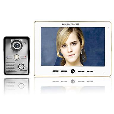 MOUNTAINONE Mit Kabel Multifamily videotürklingel 7inch Freisprechanlage 480*234Pixel One to One-Video-Türsprechanlage