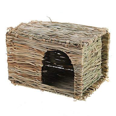 小さなペットのハムスター、マウス、ラット、ウサギ草の家の犬小屋スヌーズキャビン