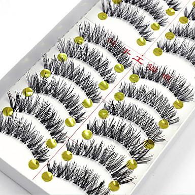 Eyelash 20 Extended Lifted lashes Volumized Natural Party Makeup Daily Makeup Full Strip Lashes Crisscross Natural Long