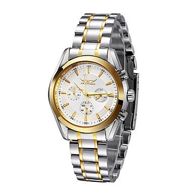 WINNER Férfi Karóra mechanikus Watch Automatikus önfelhúzós Vízálló Naptár Rozsdamentes  acél Zenekar Analóg Luxus Ezüst - ca3e3eae80