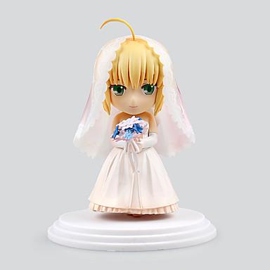 Figuras de Ação Anime Inspirado por Fate/Stay Night Saber PVC 6 CM modelo Brinquedos Boneca de Brinquedo