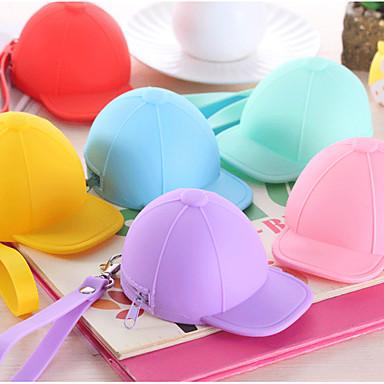 gorra de béisbol monedero colorido de silicona