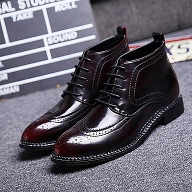メンズ 靴 レザー コンフォートシューズ ブーツ とともに 用途 カジュアル ブラック バーガンディー