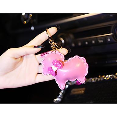kohokuvioitu nahka lampaan pussi riipus tupsu avaimenperään auton avaimet koriste