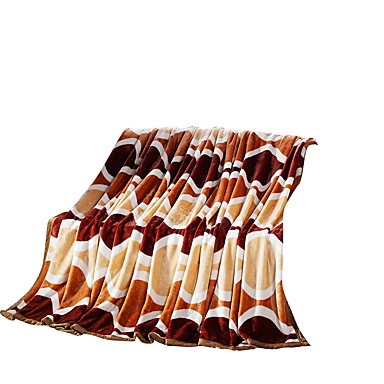 フランネル,純色 花/植物 ポリエステル100% 毛布