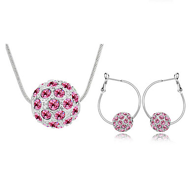 Dames Sieraden Set Kristal Modieus Kettingen Oorbellen Voor Dagelijks Giften van het Huwelijk