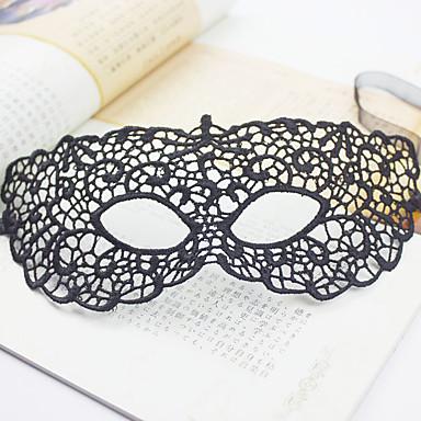 1pc knop zijde masker voor Halloween kostuum partij willekeurige kleur