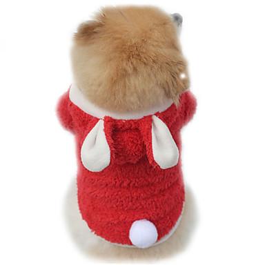 Kat Hond kostuums Hoodies Hondenkleding Effen Paars Rood Roze Fleece Kostuum Voor huisdieren Heren Dames Schattig Cosplay