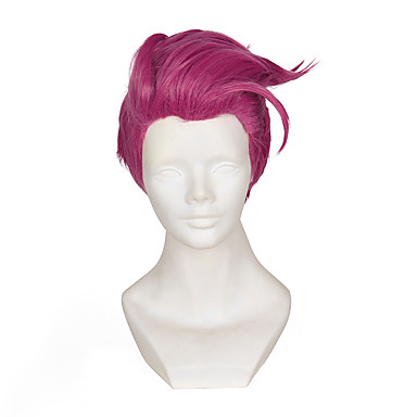 Kostymeparykker / Syntetiske parykker Rett Lilla Dame Lokkløs Cosplay-parykk Kort Syntetisk hår