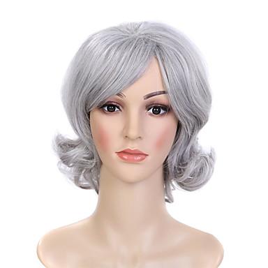 Synteettiset peruukit Kihara Naisten Luonnollinen peruukki Synteettiset hiukset