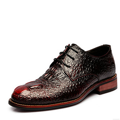 Miehet kengät Nahka Oxford-kengät Käyttötarkoitus Kausaliteetti Musta Burgundi