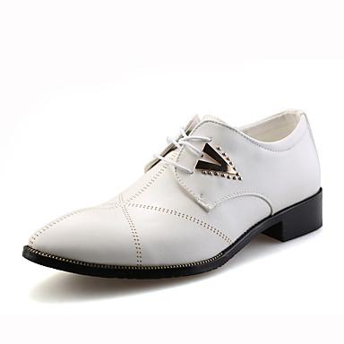 Herre sko Lær Vår Høst Oxfords Snøring til Avslappet Hvit Svart Lysebrun