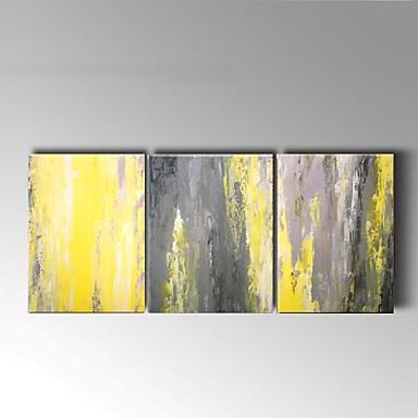 Hang-geschilderd olieverfschilderij Handgeschilderde - Abstract / Stilleven Modern / Europese Stijl Kangas / Drie panelen