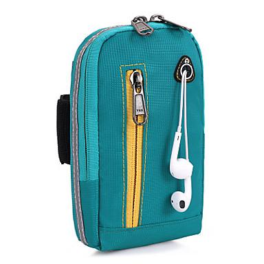 男女兼用 バッグ ナイロン 携帯電話バッグ のために カジュアル アウトドア オールシーズン ブラック ダークブルー パープル フクシャ グリーン
