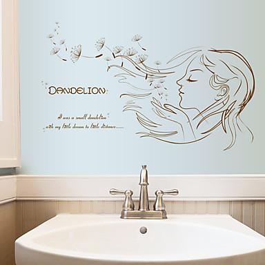 Dekorative Wand Sticker - Worte & Zitate Wandaufkleber Menschen / Mode / Blumen Wohnzimmer / Schlafzimmer / Shops / Cafés / Abziehbar
