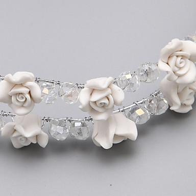 abordables Coiffes-Alliage de résine fleurs bandeau de mariage élégant style féminin