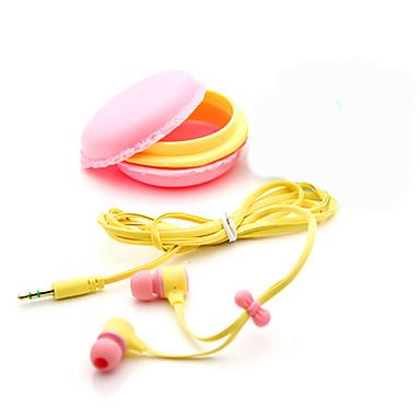 En el oido Con Cable Auriculares El plastico Teléfono Móvil Auricular Con Micrófono / Aislamiento de ruido Auriculares