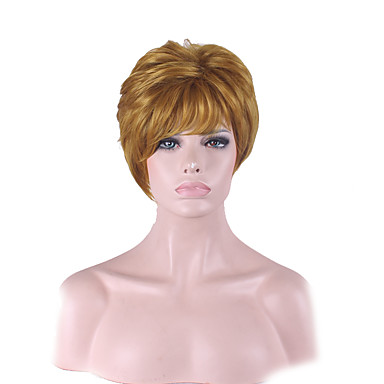 女性 人工毛ウィッグ ストレート ゴールデンブロンド ナチュラルウィッグ コスチュームウィッグ