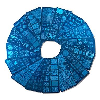 Недорогие Все для маникюра-1pcs Инструмент для ногтей Инструменты для наращивания ногтей Инструмент для штамповки ногтей шаблон Модный дизайн маникюр Маникюр педикюр Стиль / Профессиональный / Высокое качество