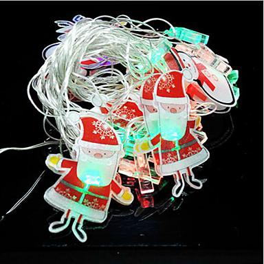 ハロウィーンの日4メートルの20枚サンタクロースの飾りLEDランプシリーズ
