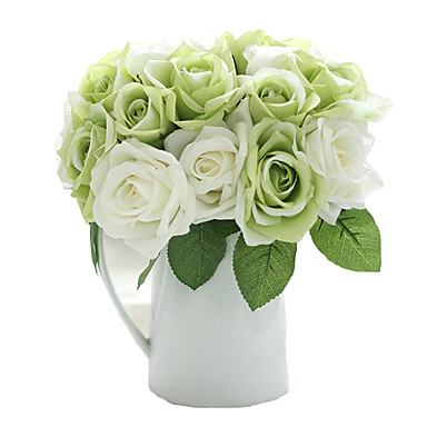 Kunstbloemen 9 Tak Moderne Style Rozen Bloemen voor op tafel