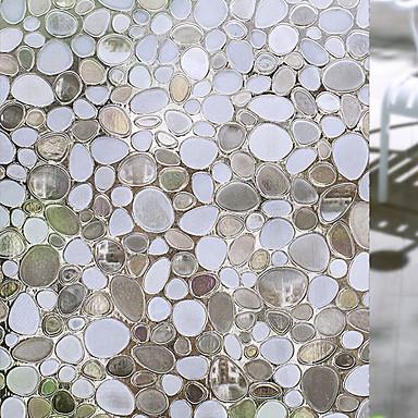 Geometrisk Moderne Vindusfilm, Pvc / Vinyl Materiale Vindusdekorasjon Spisestue Soverom Kontor Barnerom Stue Baderom Butikk / Cafe Kjøkken