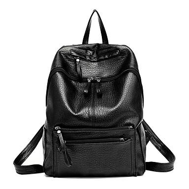 女性 バッグ 秋 PU バックパック ラッフル のために イベント/パーティー ショッピング カジュアル スポーツ フォーマル ブラック