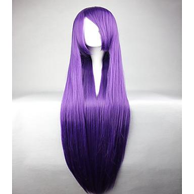 Synthetische Haare Perücken Glatt Kappenlos Cosplay Perücke