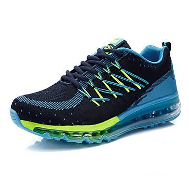 Masculino-Tênis-Conforto-Rasteiro-Azul Verde Vermelho-Tecido-Casual