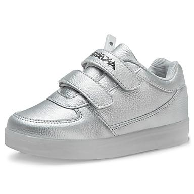 Para Meninos-Tênis-Inovador Light Up Shoes-Rasteiro-Preto Rosa Branco Prateado Dourado-Couro-Casual